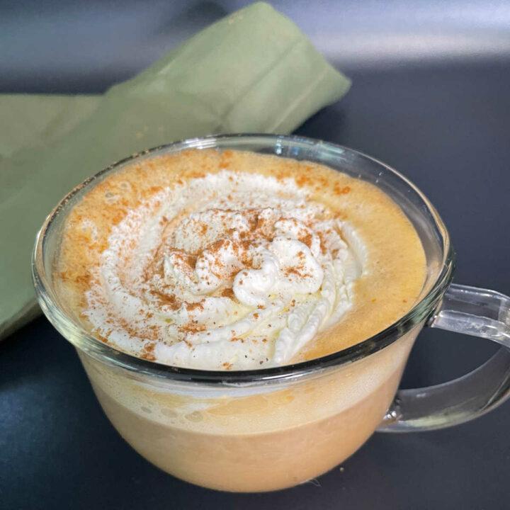 Keto Pumpkin Spice Latte finished