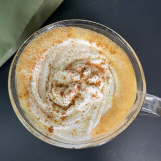Keto Pumpkin Spice Latte overhead